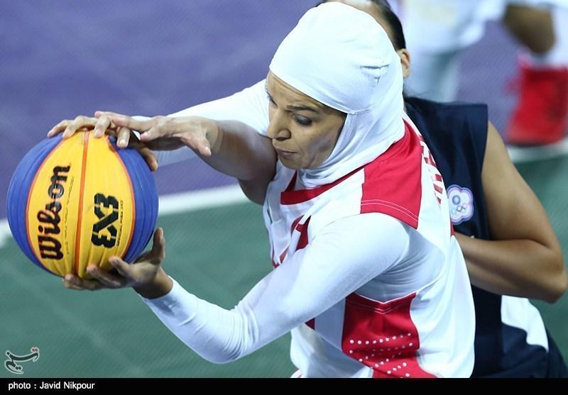 مسابقات آزاد بسکتبال سه نفره، تیم بانوان ایران به ترکمنستان باخت