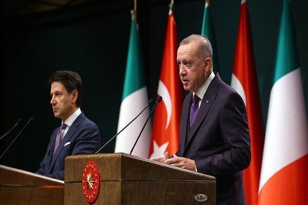 رئیس جمهور ترکیه با نخست وزیر ایتالیا تبادل نظر کرد